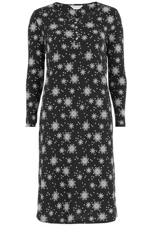Black Ivory Snowflakes Nightdress