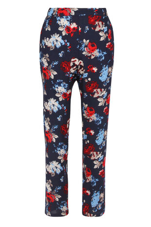 Multi Floral Harem Trousers