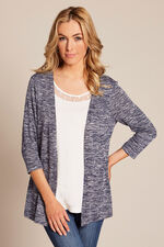 2 in 1 Knitted Top With Plain Lace Trim Inner