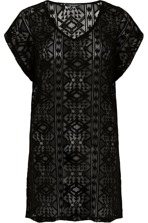 V Neck Lace Kaftan
