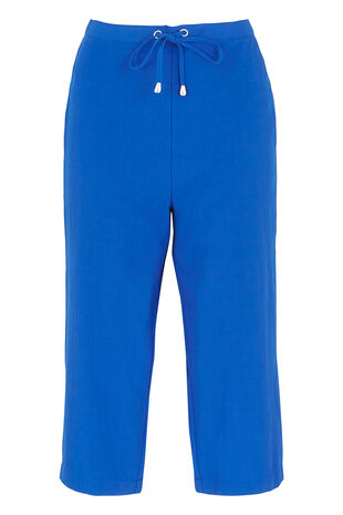 Textured Odette Cropped Trousers