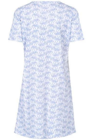 Blue Elephant Print Nightshirt
