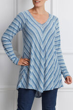 Ann Harvey Chevron V-Neck Top