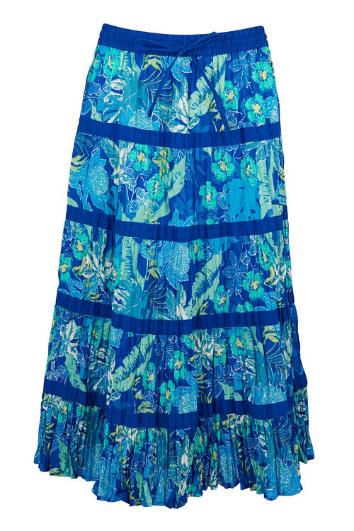 Tiered Tropical Palm Skirt