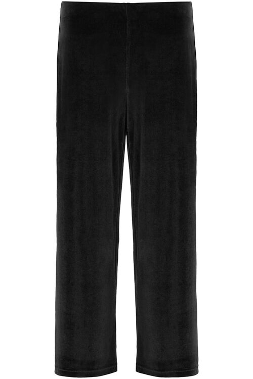 Velour Wide Leg Trousers