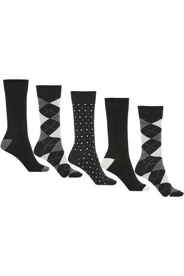 Mens 5Pck Argyle Socks