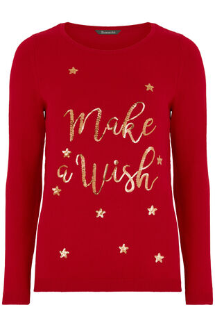 Make A Wish' Christmas Jumper