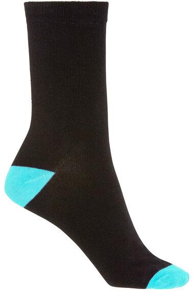5 Pack Bright Contrast Heel & Toe Sock