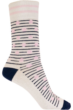Spot And Stripe Socks