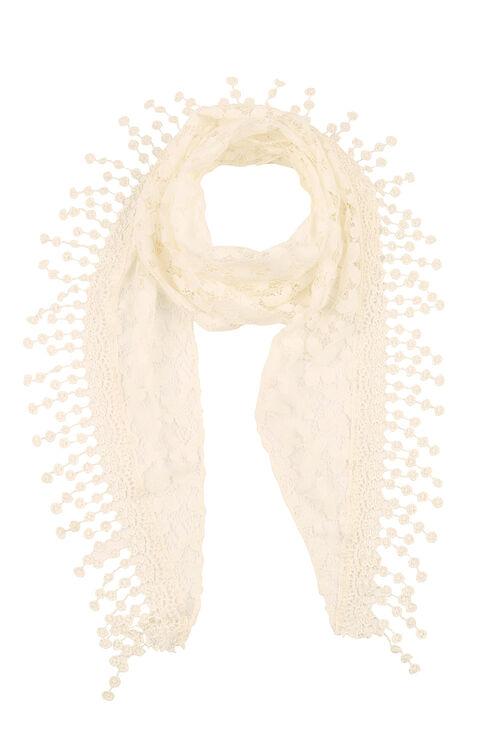 Butterfly Crochet Lace Scarf