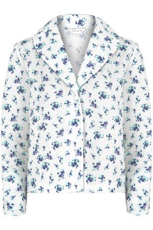 Floral Print Bed Jacket