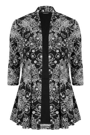 Linear Floral Jersey Jacket