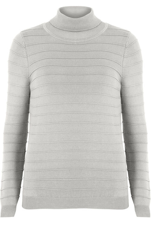Ripple Roll Neck Sweater