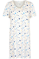 Multi Heart Print Nightdress