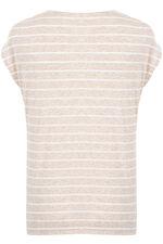 Stripe Lace Up Detail T-Shirt