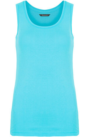Pure Cotton Scoop Neck Vest