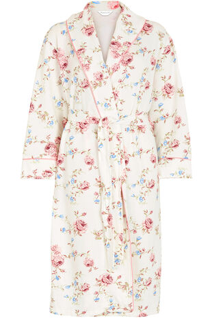 Floral Shawl Collar Gown