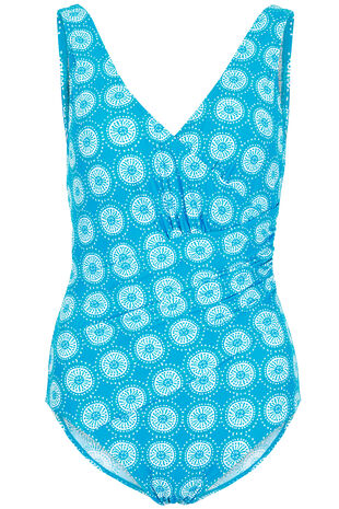 Wrap Front Printed Swimsuit