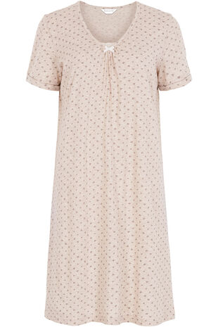 Heart Oatmeal Marl Nightshirt