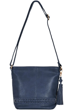 Woven Detail Cross Body Bag