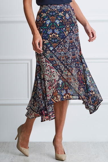 Patchwork Hanky Hem Skirt