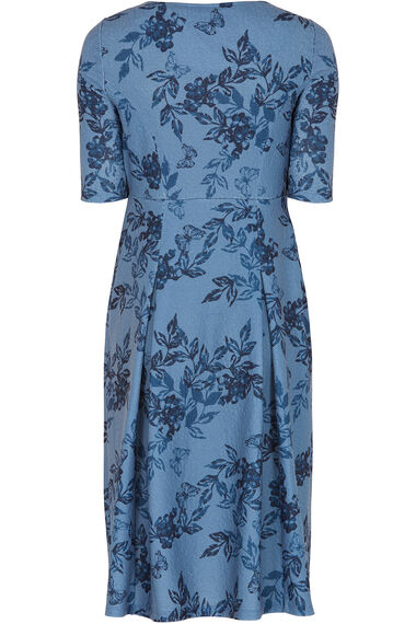 Butterfly Textured Fit And Flare Dress