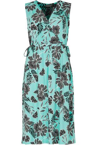 Cross Front Floral Dress