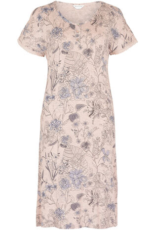 Oatmeal Print Nightdress