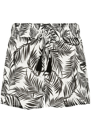 Palm Print Beach Shorts