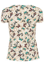 Butterfly Print V-Neck Top