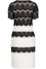 David Emanuel Signature Lace Shutter Dress