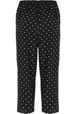 Spot Print Wide Leg Cropped Trousers