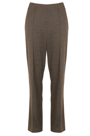 Textured Ponte Comfort Waist Trousers