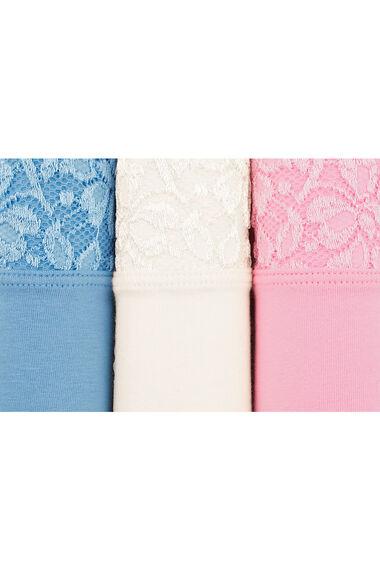 Three Pack Lace Waist Briefs