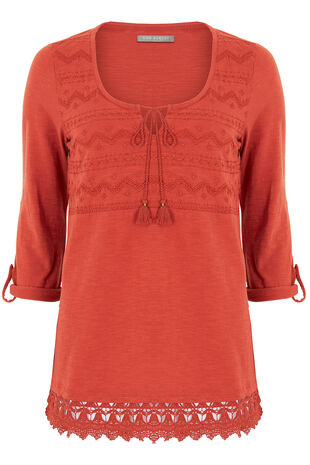 Ann Harvey Embroidered Cotton Tunic
