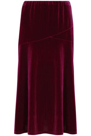 A Line Velour Skirt