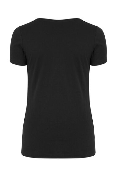 Basic Cotton Scoop Neck T-Shirt