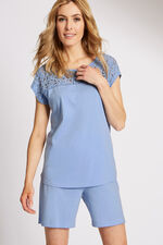 Lace Yoke Pyjama Top