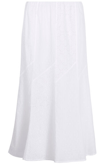 Panelled Embroidered Maxi Skirt