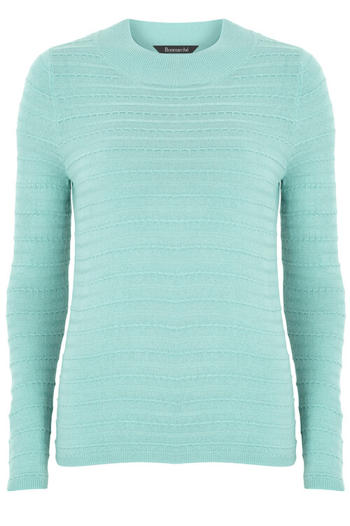 Textured Turtleneck Jumper