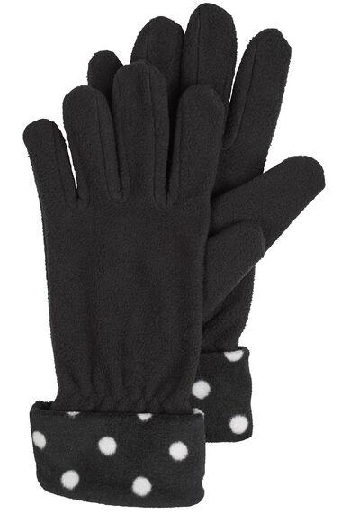 Spot Fleece Scarf And Gloves Set