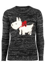 Scotty Dog Intarsia Jumper