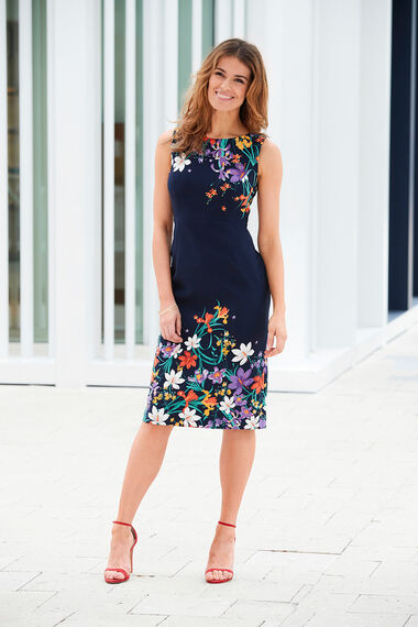 Floral Print Shift Dress