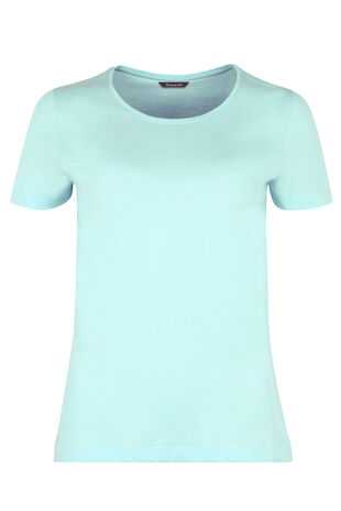 Basic Cotton Scoop Neck T-Shirt