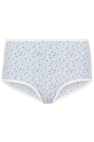 Five Pack Micro Floral Star Briefs