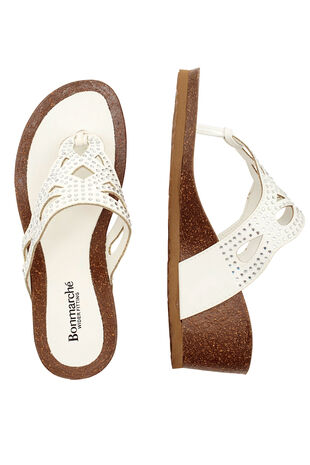 Diamante Detail Wedge Sandals