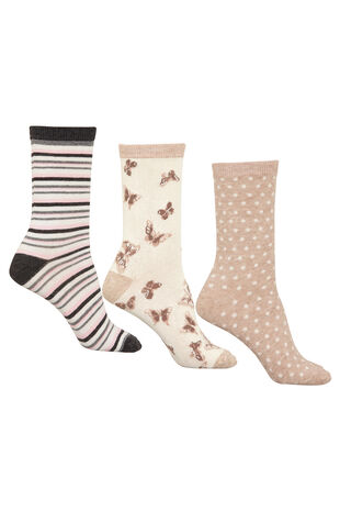 3 Pack of Butterfly Socks