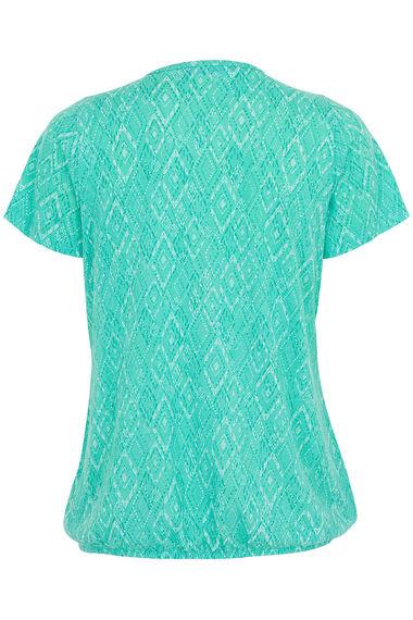 Burnout Stand Collar T-Shirt