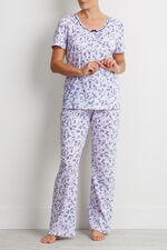 Floral Lace Trim Pyjama Top - Mix & Match