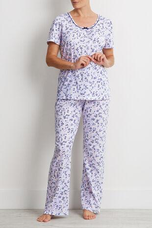 Floral Lace Trim Pyjama Top - Mix & Match